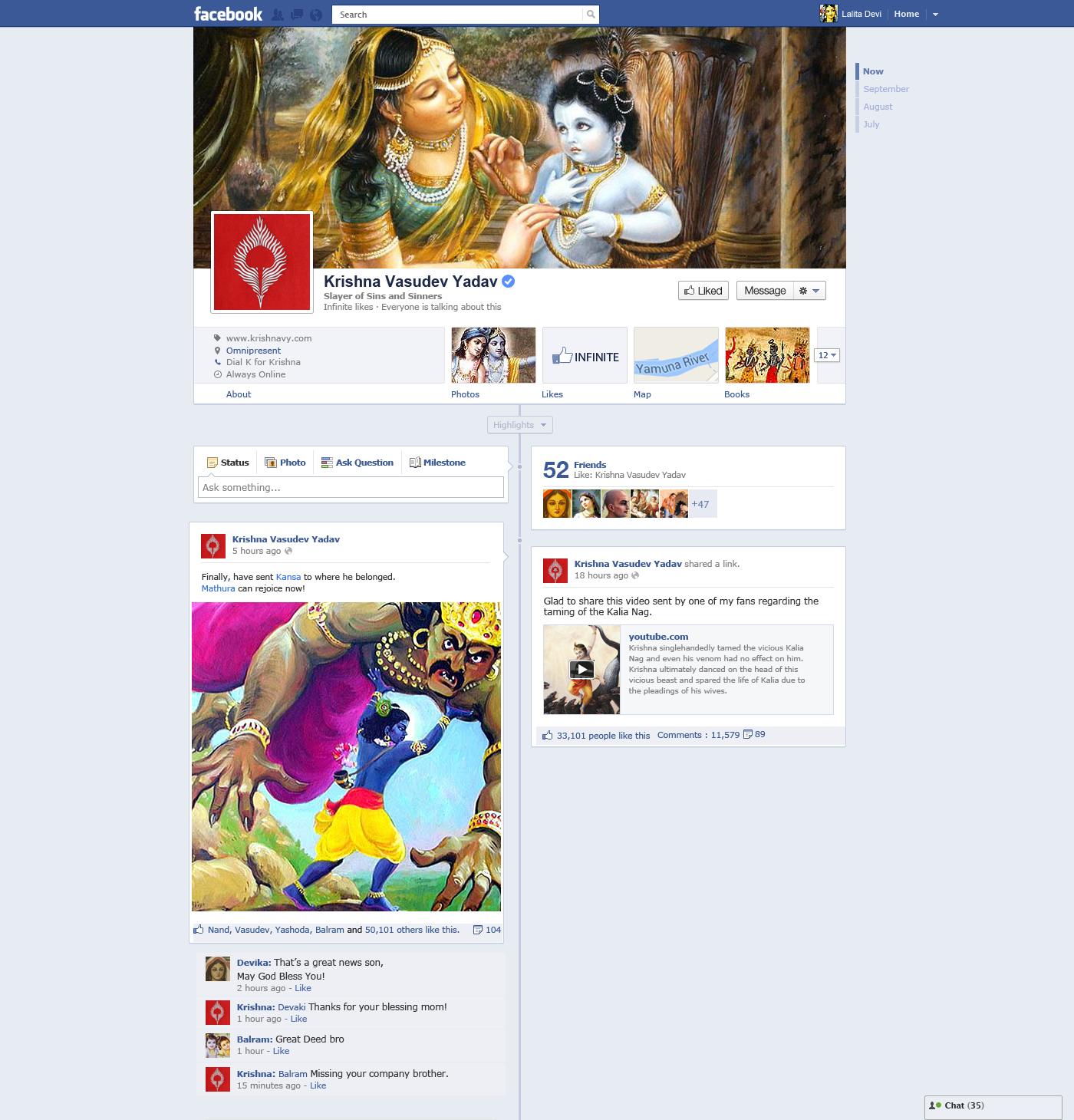 5 facebook- krishna