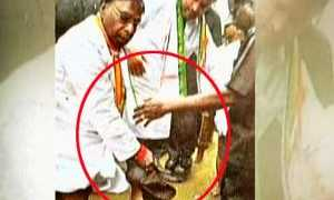 Narayana Swamy playing the role of Slave, while Prince Rahul was the master