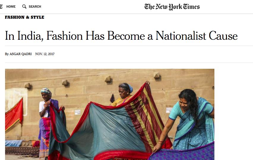 qadri modi fashion india nyt hindu