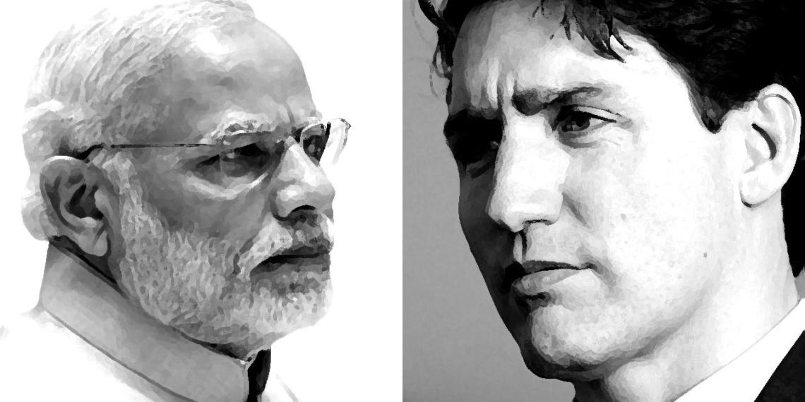 India Trudeau TRUDEAU, KHALISTAN, MODI