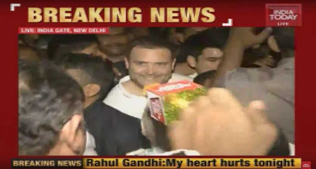 rahul gandhi candle light vigil