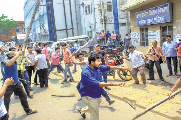 tmc goons, violence, elections