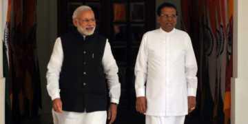 sri lankan president, narendra modi