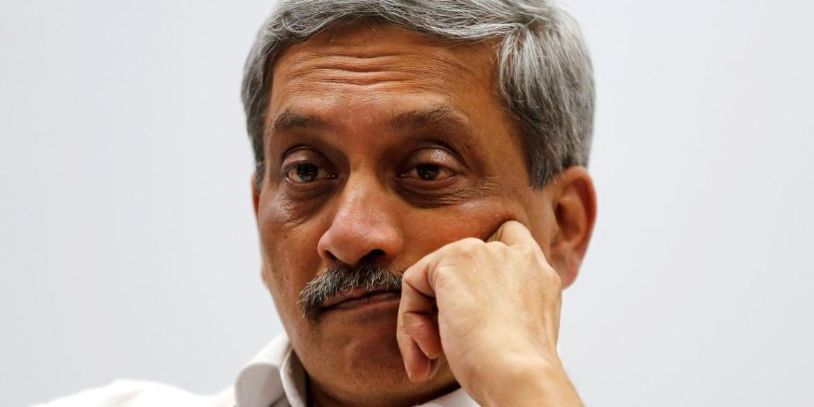manohar parrikar, congress