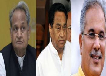 MP, Chhattisgarh, Rajasthan, Congress