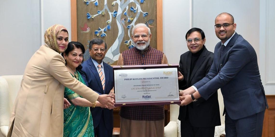 PM Modi, Kotler , award