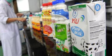 China, milk products
