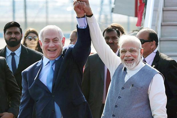 Palestine, Modi government