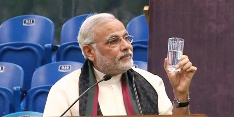 modi, government, water conservation